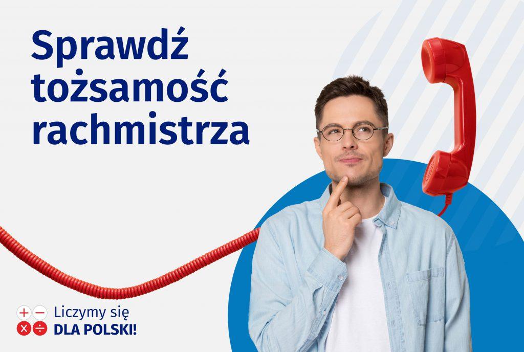 Plakat: Sprawdz tożsamość rachmistrza
